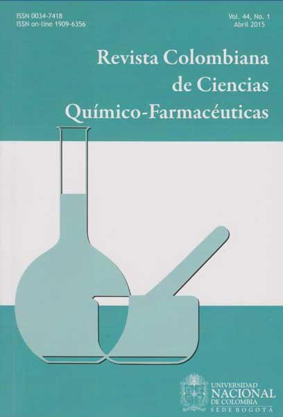 Revista Colombiana de Ciencias Químico-farmacéuticas.  Vol. 44. No.1