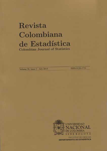 Revista Colombiana de Estadística Vol. 38 N. 2