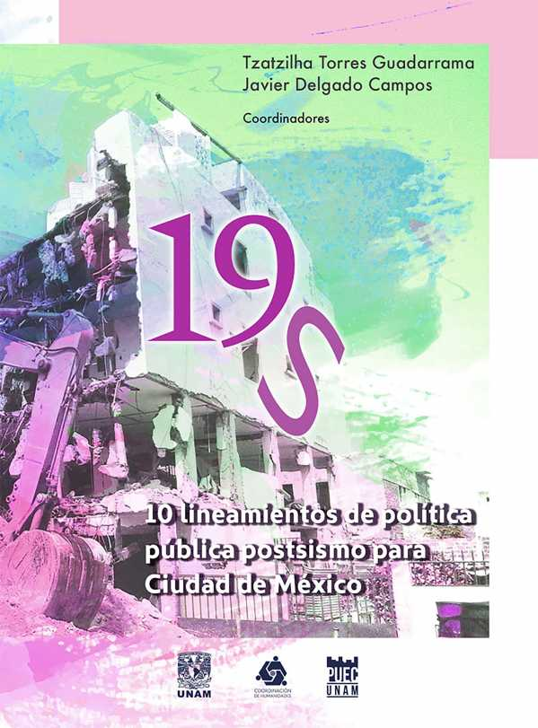 19S.10 lineamientos de política pública postsismo para Ciudad de México