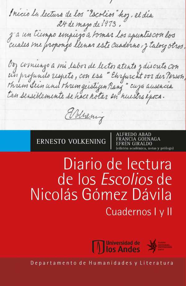 Diario de lectura de los Escolios de Nicolás Gómez Dávila. Cuadernos I y II