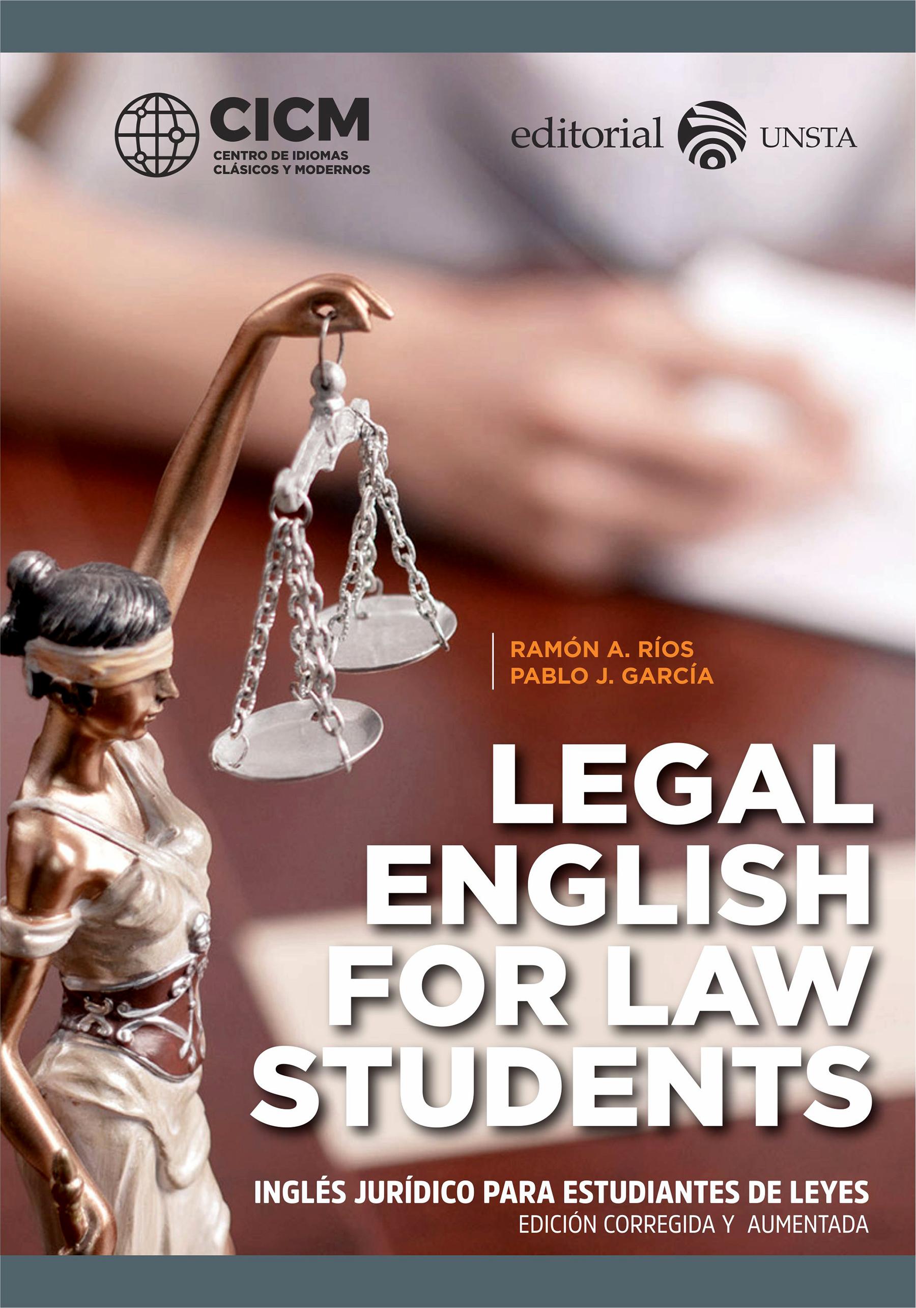 Legal English For Law Students. Ingés Jurídico Para Estudiantes De Leyes