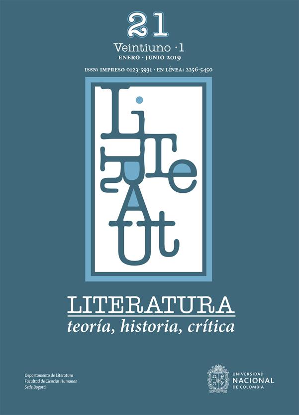 Revista Literatura, teoría, historia, crítica. Vol 21, N°.1