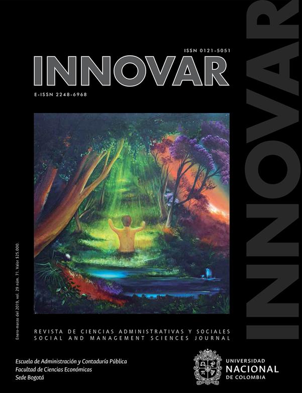 Revista Innovar. Revista de ciencias administrativas y sociales. Vol.29 N°.71