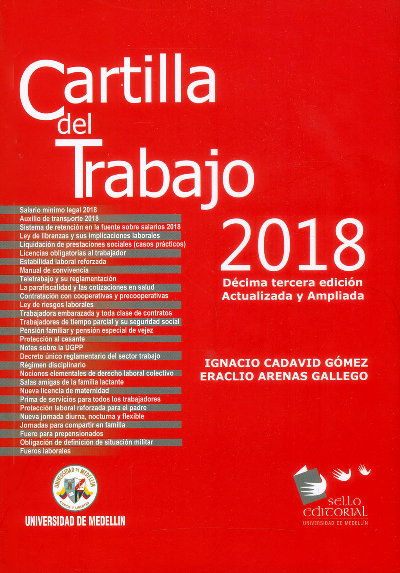 Cartilla del trabajo 2018 (Décima Tercera Edición Actualizada y Ampliada)