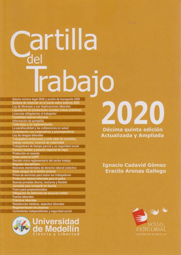 Cartilla del Trabajo 2020. Décima quinta  edición Actualizada y Ampliada