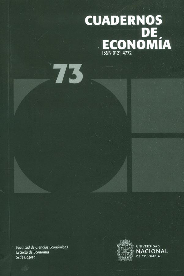 Cuadernos de economía No. 73