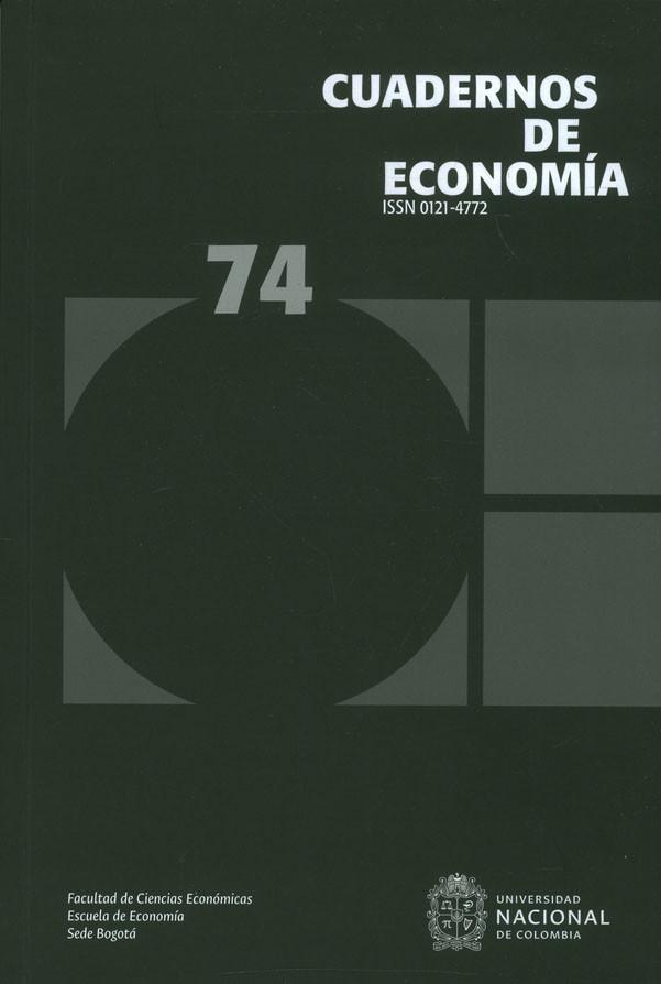 Cuadernos de economía No. 74