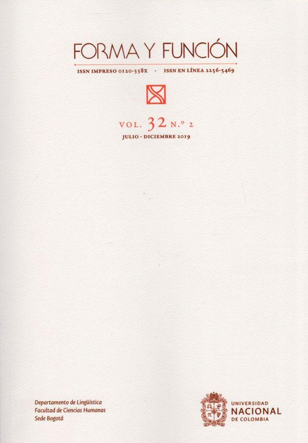 Revista Forma y Función Vol. 32 N.2. Julio-Diciembre 2019.