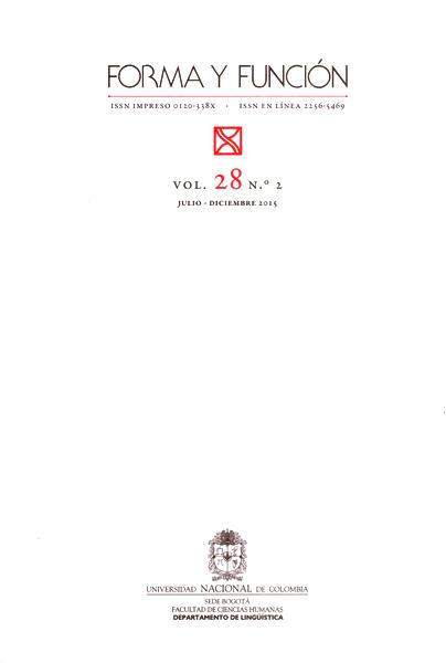 Forma y función Vol.28 No.2