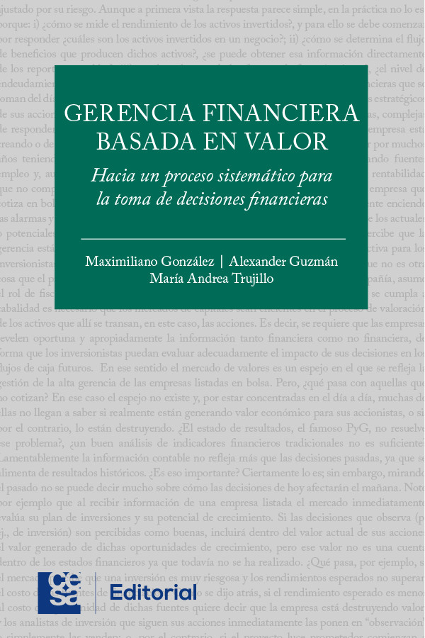 Gerencia financiera basada en valor: Hacia un proceso sistemático para la toma de decisiones financieras