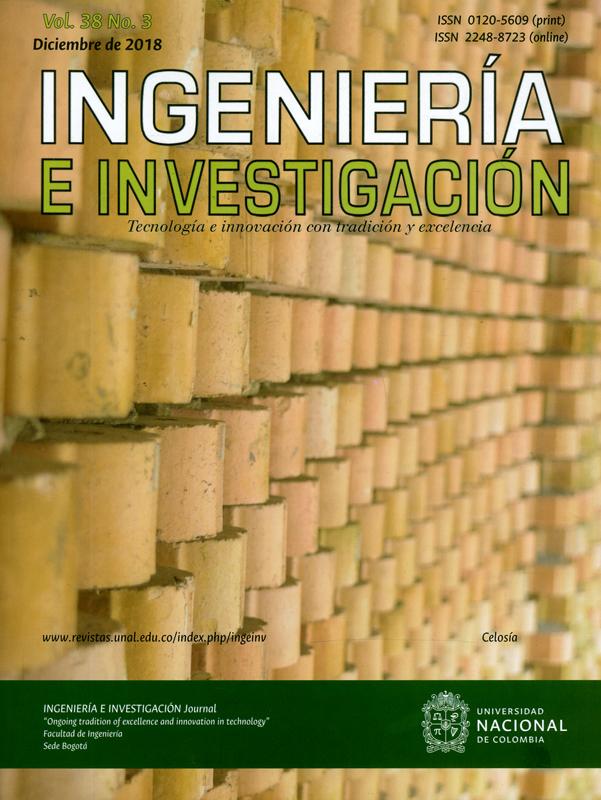 Revista ingeniería e investigación. Tecnología e innovación con tradición y excelencia. Vol.38 N°.3