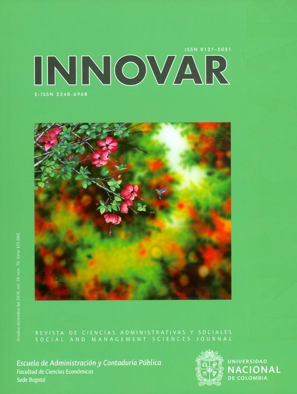 Revista Innovar Vol 28. No.70