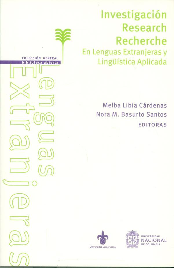Investigación Research Recherche. En las lenguas Extranjeras y Lingüística aplicada