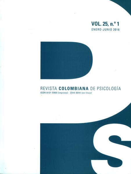 Revista colombiana de psicología Vol.25, No. 1