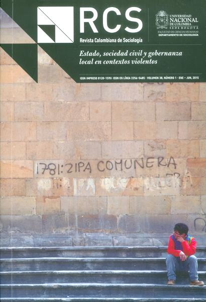 Revista colombiana de sociología: Estado, sociedad civil  y gobernanza local en contextos violentos-Vol.38 No. 1
