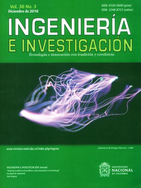 Ingeniería e investigación Vol.36 No.3