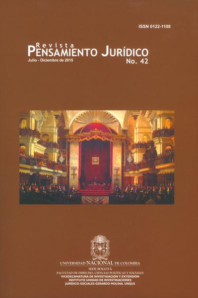 Revista pensamiento jurídico No.42