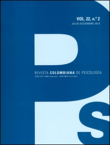 Revista colombiana de psicología. Vol 22. No. 2