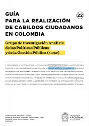 Guía para la realización de cabildos ciudadanos en Colombia