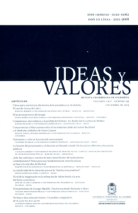 Ideas y Valores. Revista Colombiana de Filosofía. Vol.64 No. 159