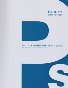 Revista Colombiana de Psicologia Vol.28 N.1. Enero-Junio 2019