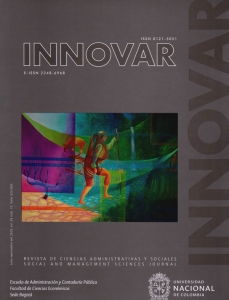 Revista Innovar Vol. 29 N°. 73. Revista de Ciencias Administrativas y Sociales, Social and Management Sciences Journal